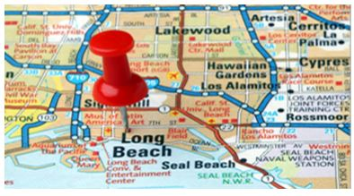 Map of Long Beach - Spinnaker Bay