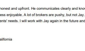 Testimonial for Jay Valento