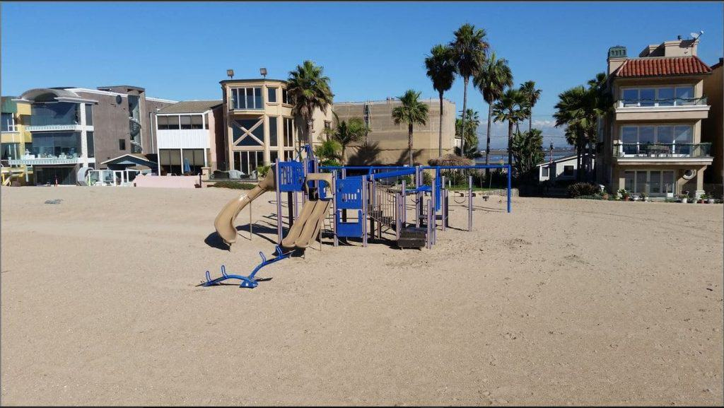 Playground at Surfside California in front of Row A