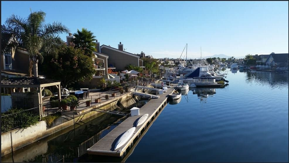 Seagate Townhomes with boat slips Huntington Harbor Huntington Beach CA