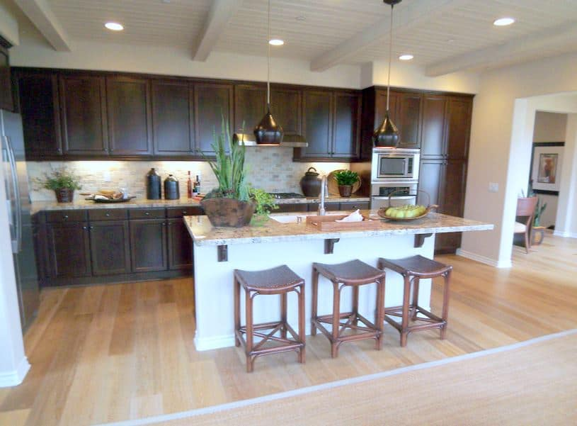 Photos of new kitchens in the new home models at for New home kitchens