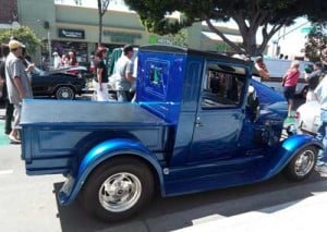 Blue Classic Truck - Belmont Shore Car Show Long Beach