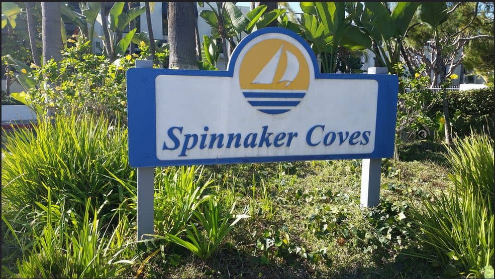 Spinnaker Cove Townhomes - Condos Long Beach sign