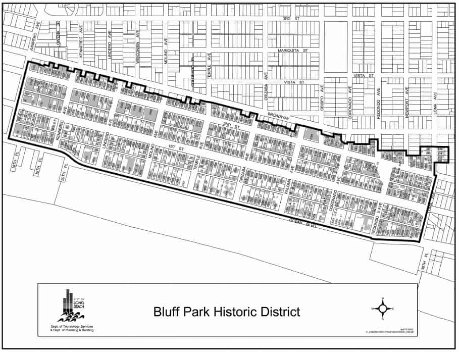Map of Bluf Park Historic District Homes