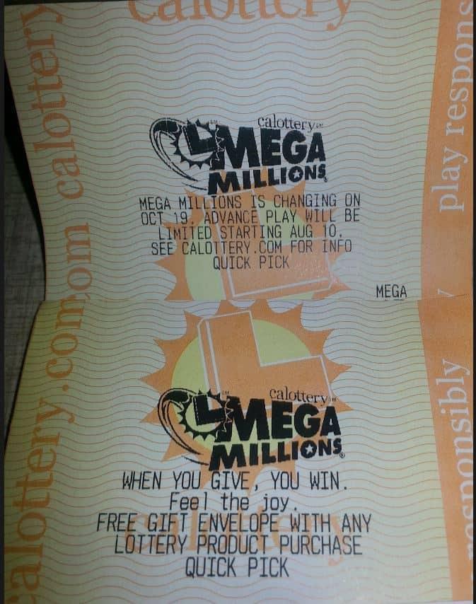 Mega Millions 5 Lottery Jackpot