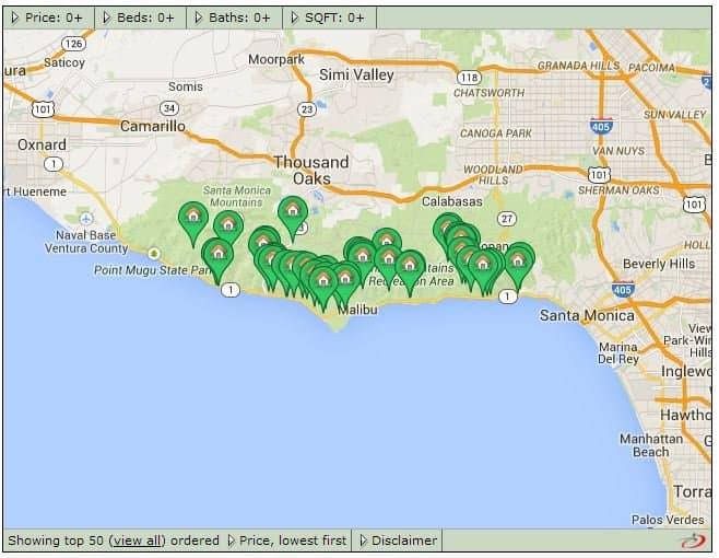 Malibu Ca Land For Sale 29208 Cliffside Drive Malibu