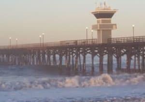 High Surf in Seal Beach Pier