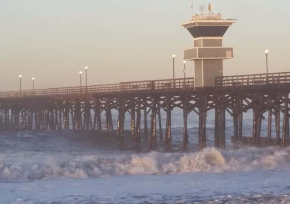 High Surf in Seal Beach Pier