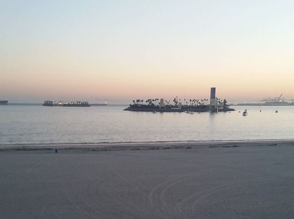 Long Beach at Sunset in Belmont Shore