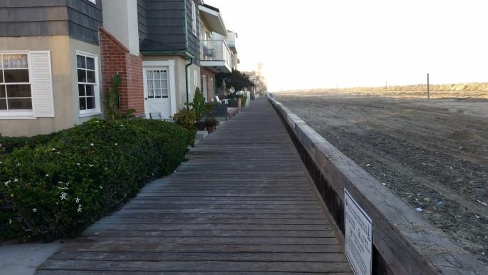 Long Beach beach front homes