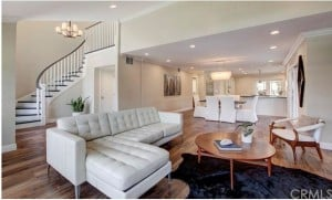 Living Room at 253 Claremont Long Beach