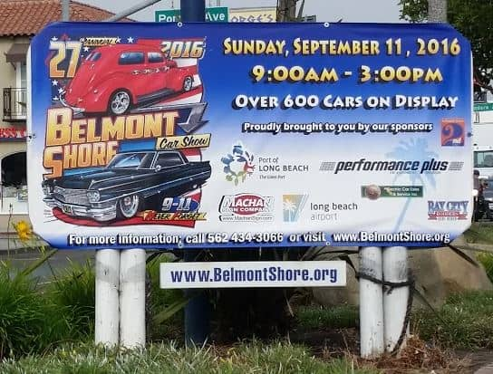 Belmont Shore Car Show 2016 Banner