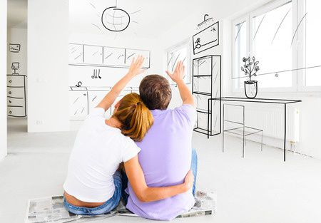 Photo of Couple planning out Ocean Blvd Long Beach Condos