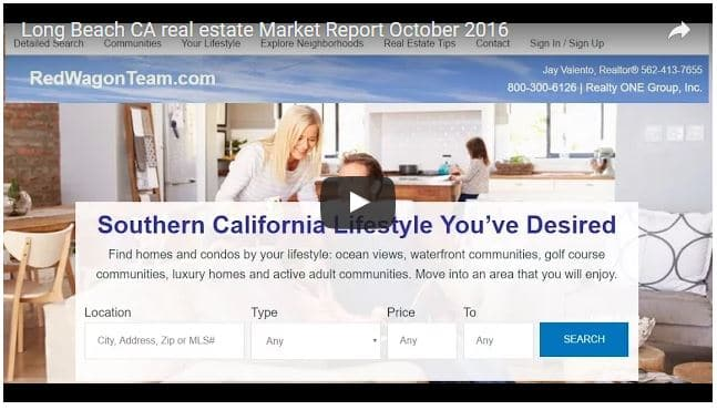 Long Beach CA Real Estate Market Statistics October 2016