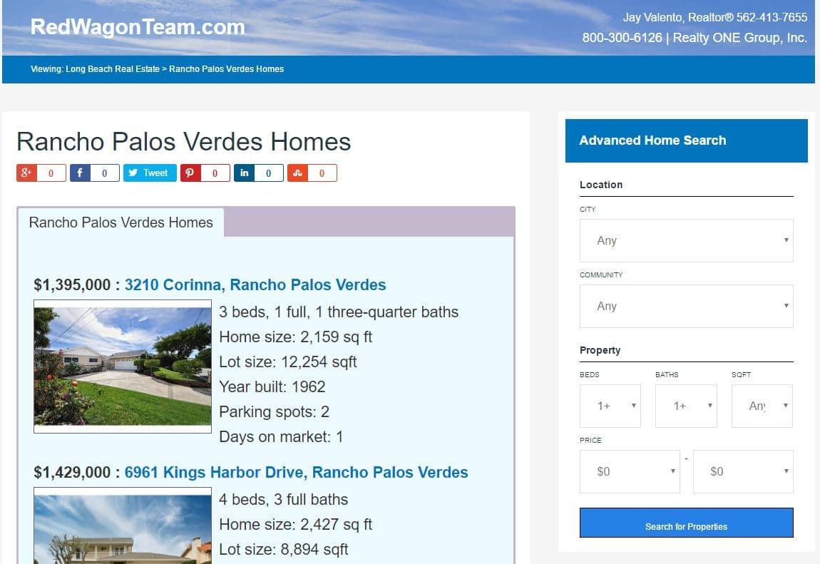 Rancho Palos Verdes Market Trends - October 2016
