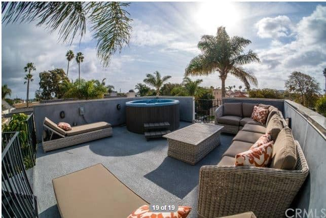 Roof top deck of 225 Elmira Huntington Beach