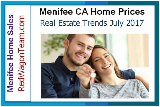 Menifee CA Home Prices July 2017