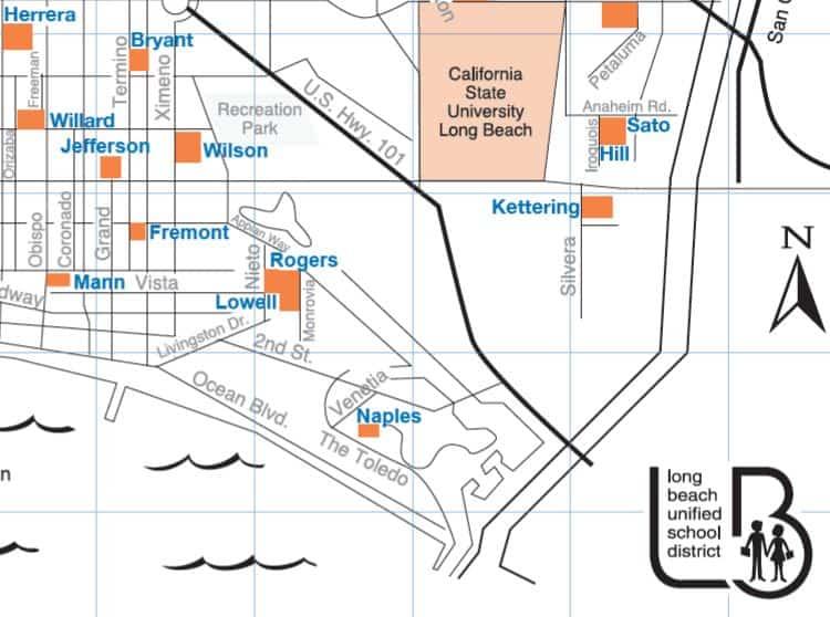 Long Beach Unified School District Map