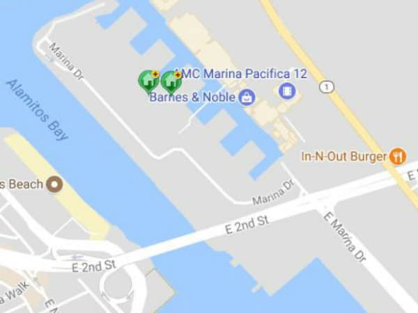 Map of Marina Pacifica Condos Long Beach