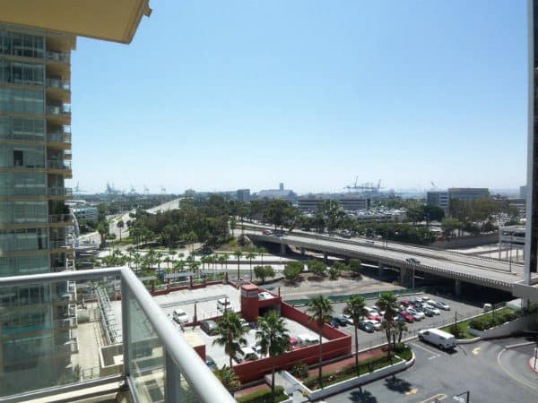 View from West Ocean Long Beach