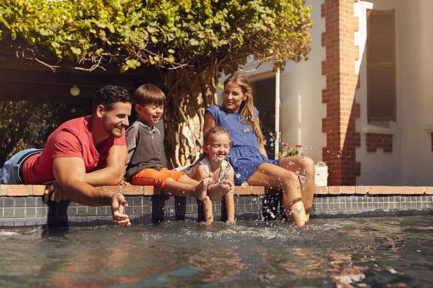 Sparkling Pool Homes Family Events