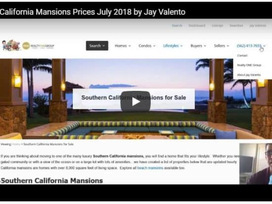 Southern California Mansions Prices July 2018 by Jay Valento