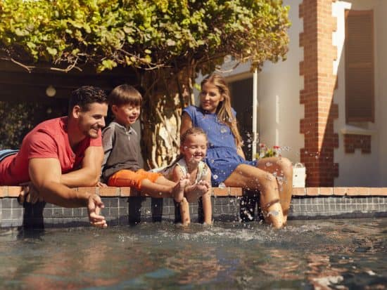 South Corona Homes are perfect for family time at the pool