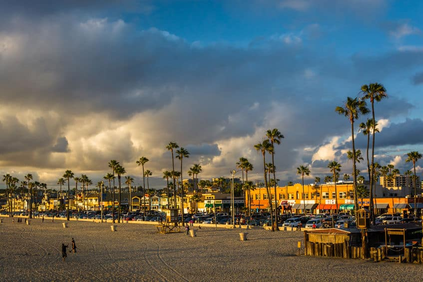 Balboa Island and Balboa Peninsula Coastline Photo