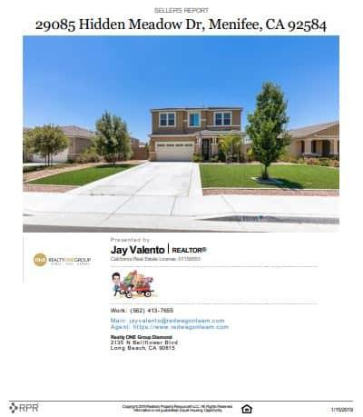 Menifee Home Values Report Sample