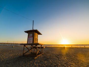 Newport Beach Fireworks 2019 Lifeguard Tower