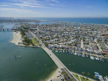 Long Beach Naples Island Homes Aerial View