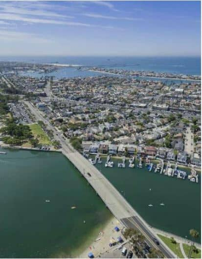 Belmont Shore Long Beach real estate Aerial View