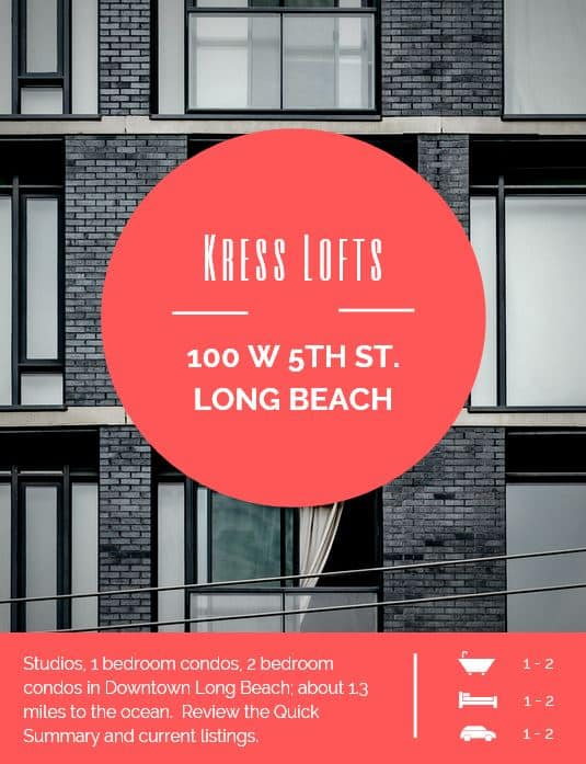 Historical Landmark Kress Lofts Long Beach
