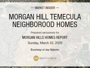 Morgan Hill Temecula Homes Report