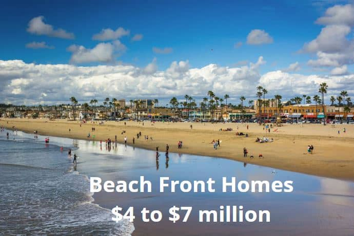 Beach Front Homes $4 million to 7 million