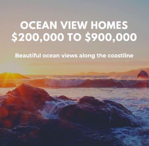 Ocean View Homes 200000 900k