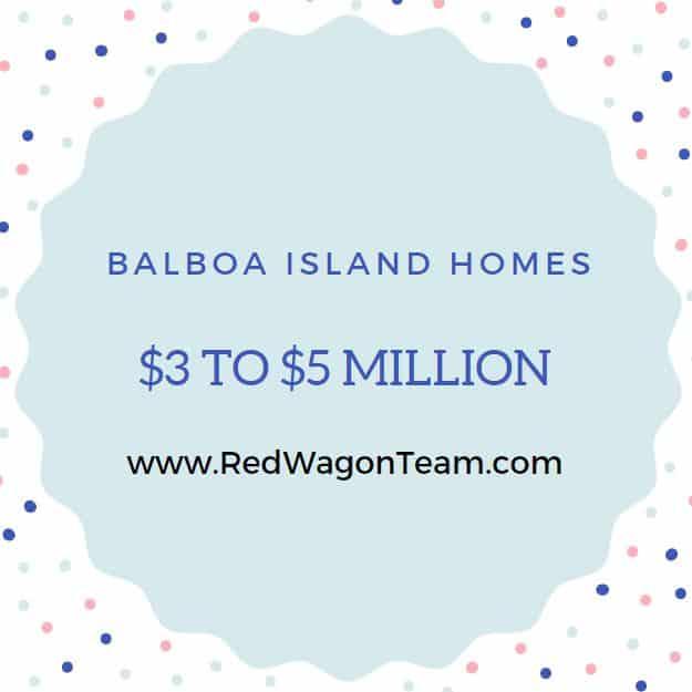 Balboa Island Real Estate $3 million to $5 million dollars