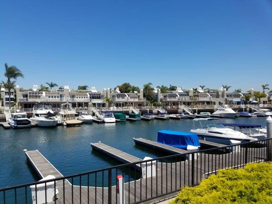 Huntington Harbor Waterfront Homes Boats
