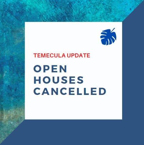 Temecula Open Houses 2020 Virtual Tours