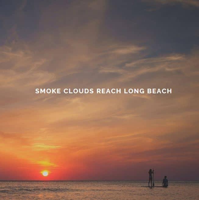 Smoke Clouds Reach Long Beach California