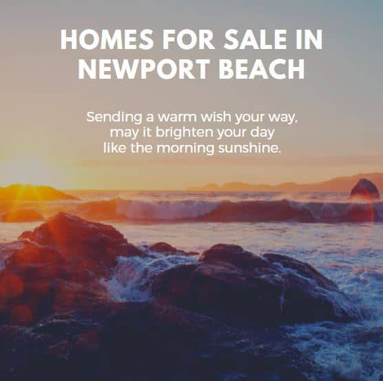 Homes for Sale in Newport Beach