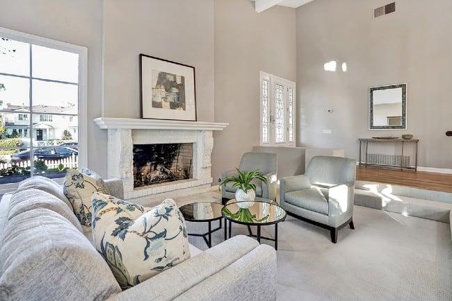 Living Room Fireplace Newport Beach