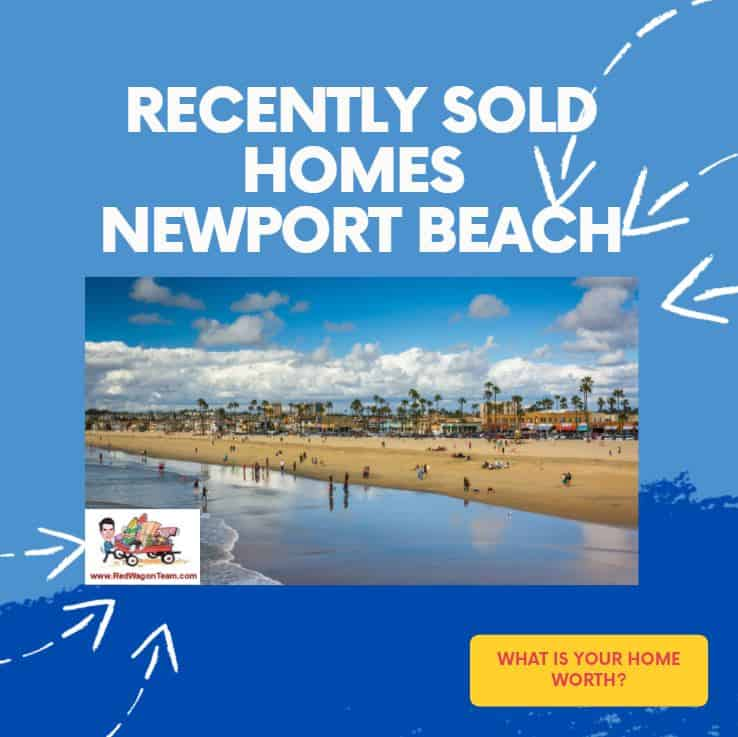 Sold Homes Newport Beach California