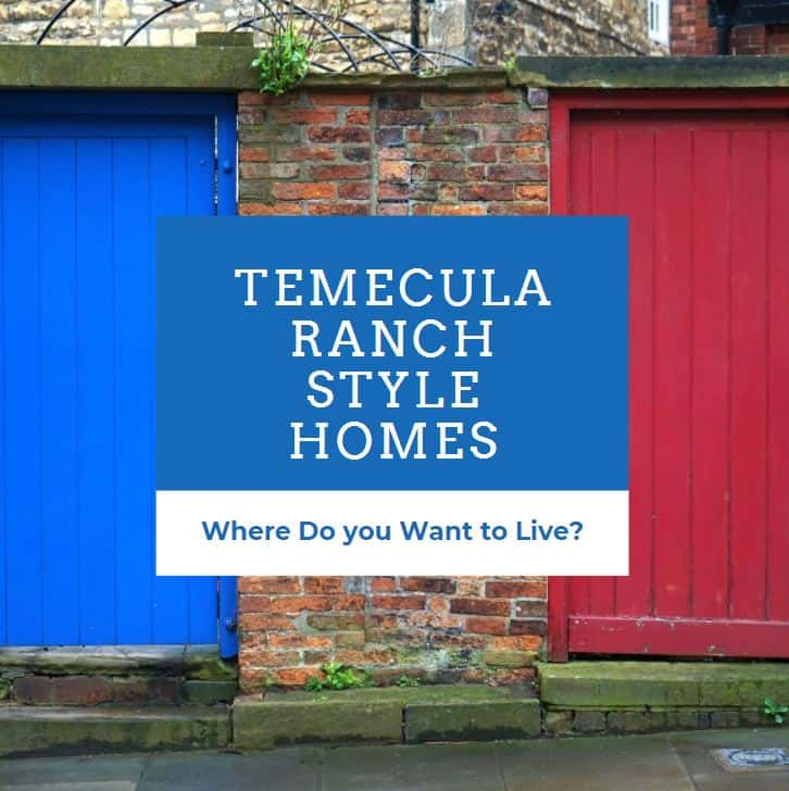 Temecula ranch style homes