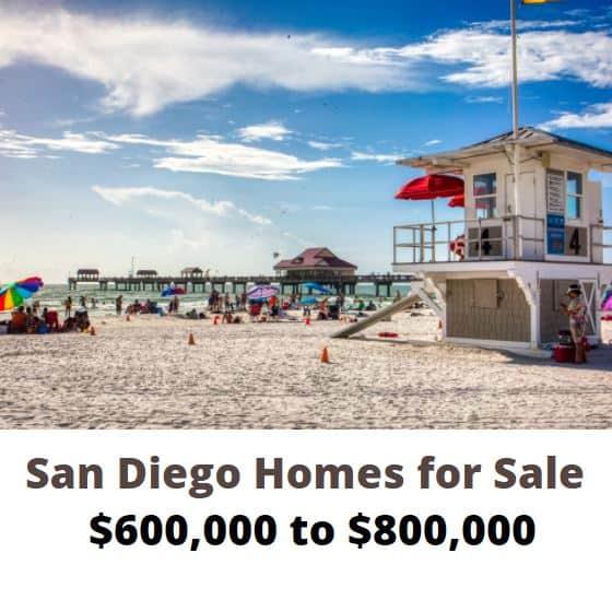 San Diego Homes 600k to 800k