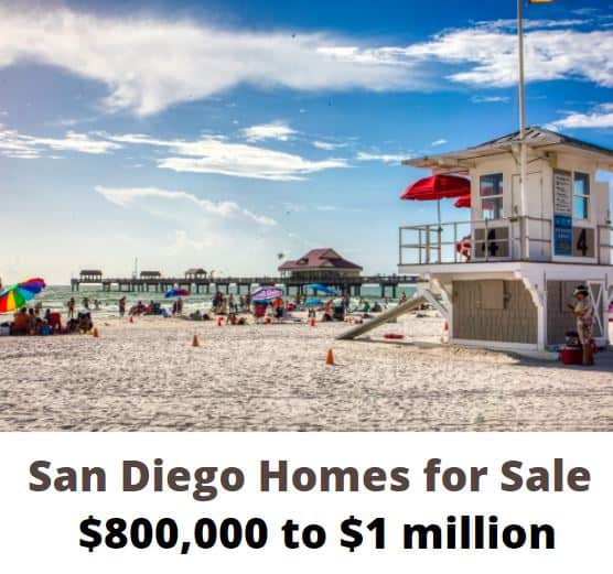San Diego Homes 800k to 1 million