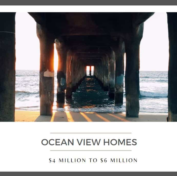 Ocean View Homes 4 million to 6 million in Southern California